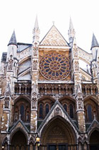Exterior of Westminster Abbey, London, England